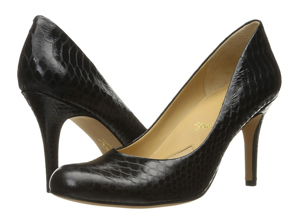 Trotters Gigi (Black Metal Glazed Snake) High Heels