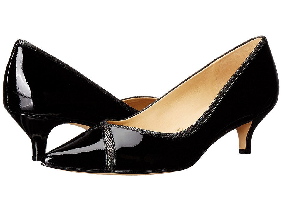 Trotters - Kelsey (Black Soft Patent Leather/Iridescent) Women's 1-2 inch heel Shoes