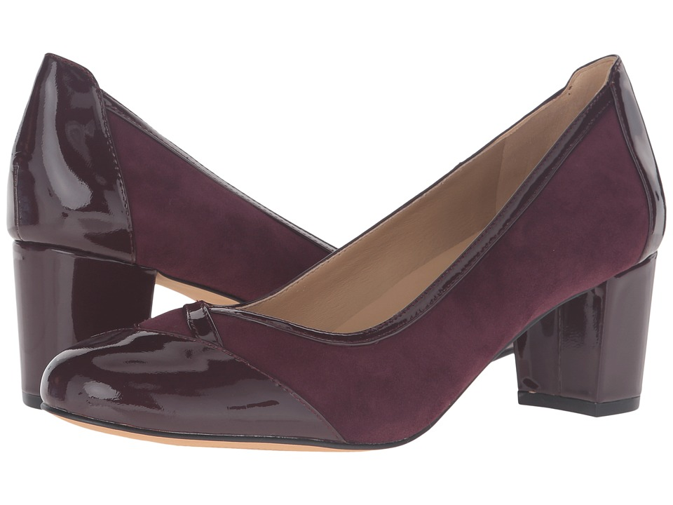 Trotters - Phoebe (Burgundy Kid Suede/Patent Leather) High Heels