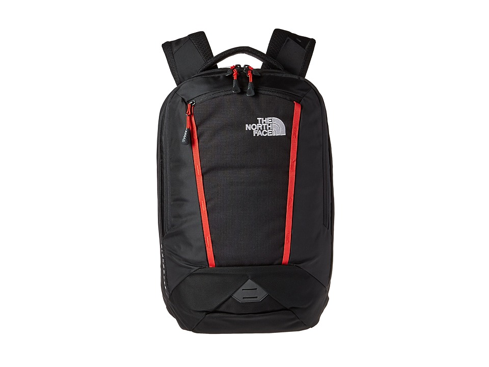 The North Face - Microbyte Backpack (TNF Black/Pompeian Red) Backpack Bags