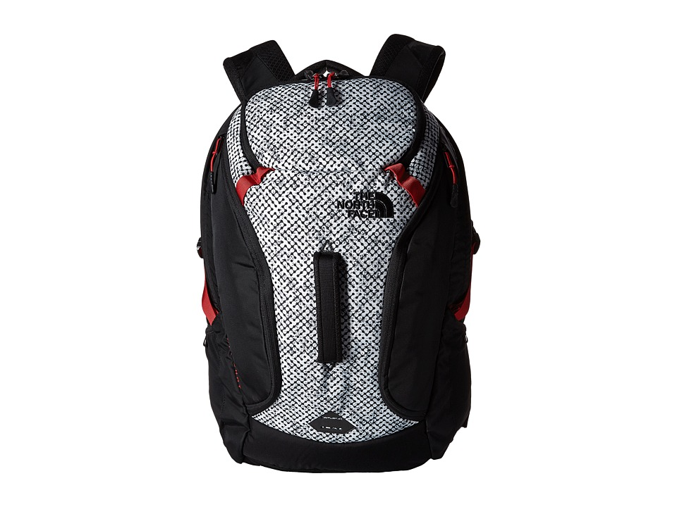The North Face - Big Shot (TNF Black Elliptic Print/Pompeian Red) Backpack Bags