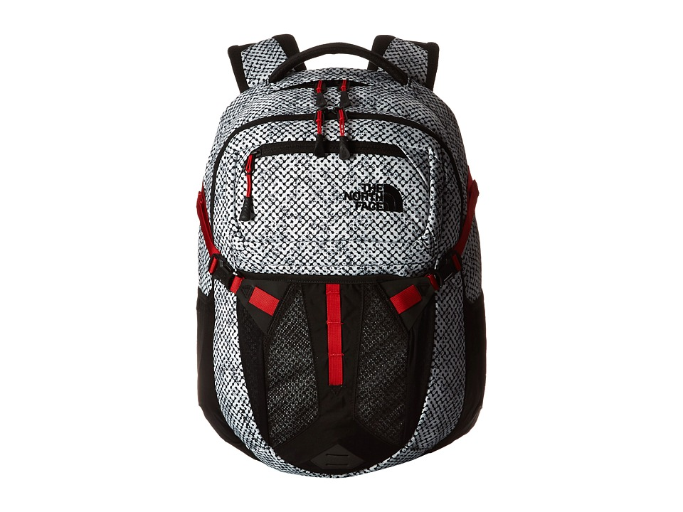 The North Face - Recon (TNF Black Elliptic Print/Pompeian Red) Backpack Bags