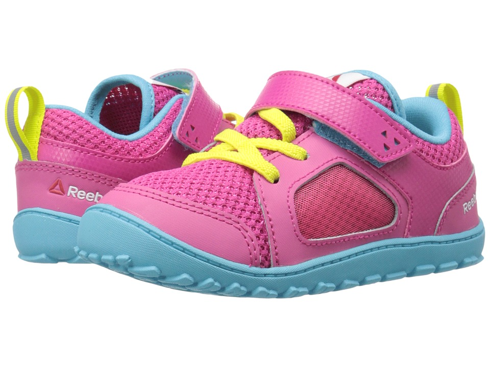 Reebok Kids - Ventureflex Stride 4.0 (Toddler) (Rose Rage/Crisp Blue/Hero Yellow/White) Girl's Shoes