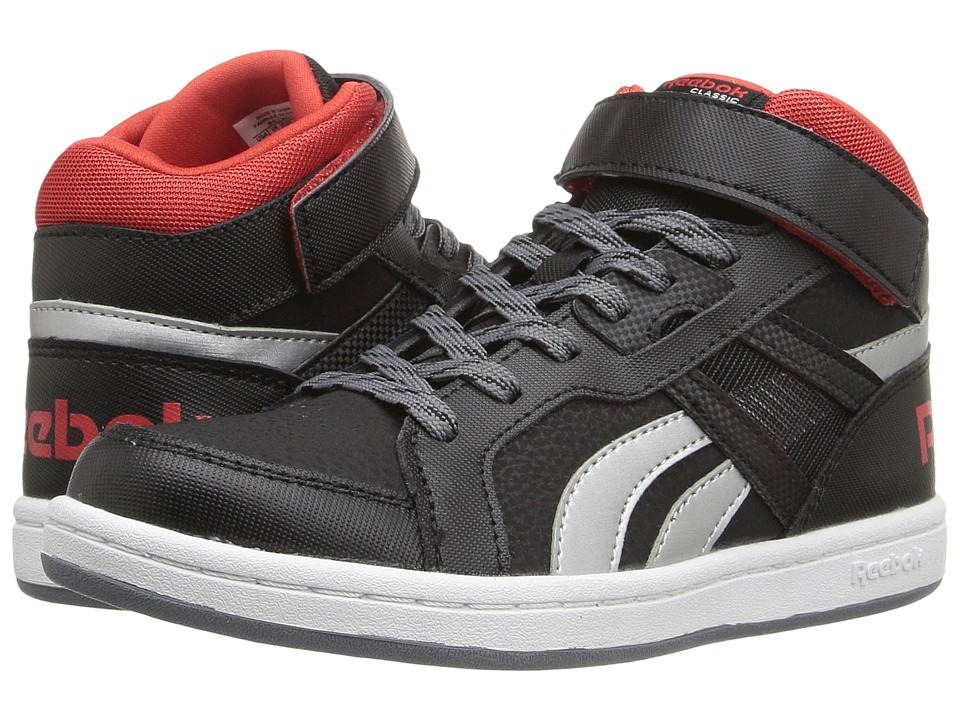Reebok Kids - Mission 2.0 (Little Kid/Big Kid) (Black/Asteroid Dust/Riot Red/Silver Metallic/White) Boy's Shoes