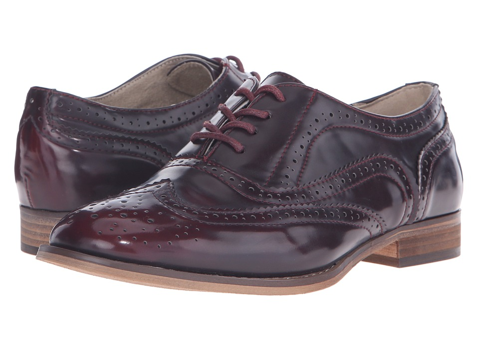Steve Madden Benjamin Burgundy Womens Lace Up Wing Tip Shoes