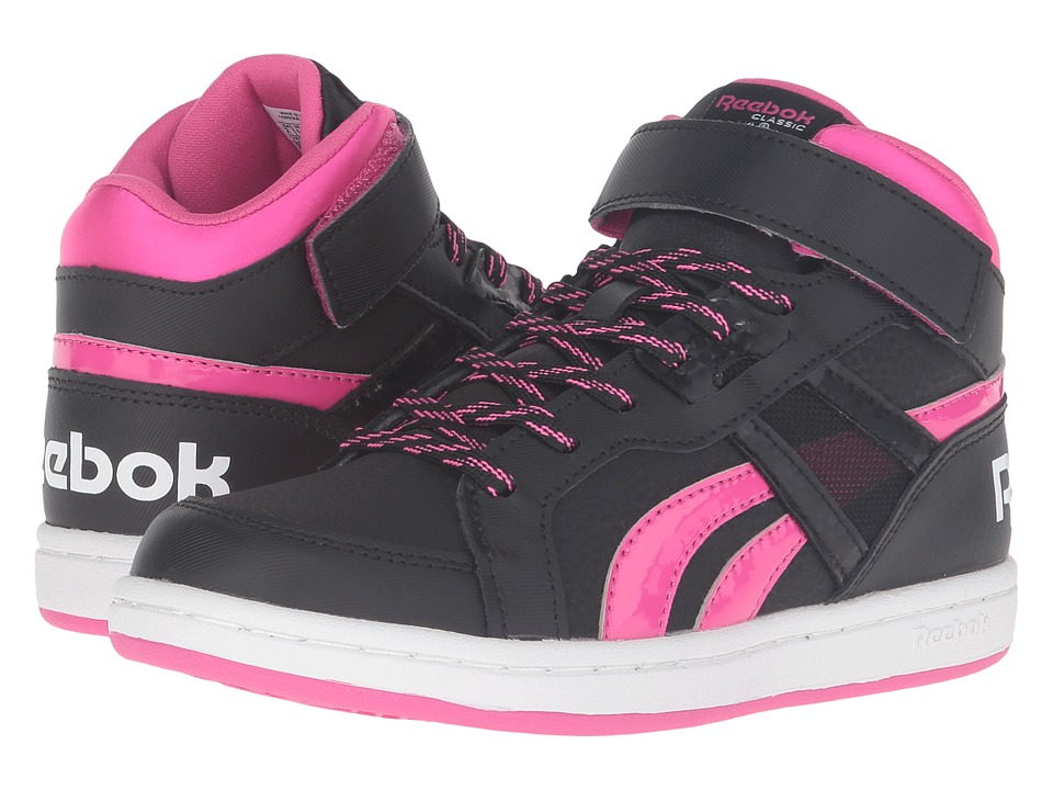 Reebok Kids - Mission 2.0 (Little Kid/Big Kid) (Black/Rose Rage/White) Girl's Shoes