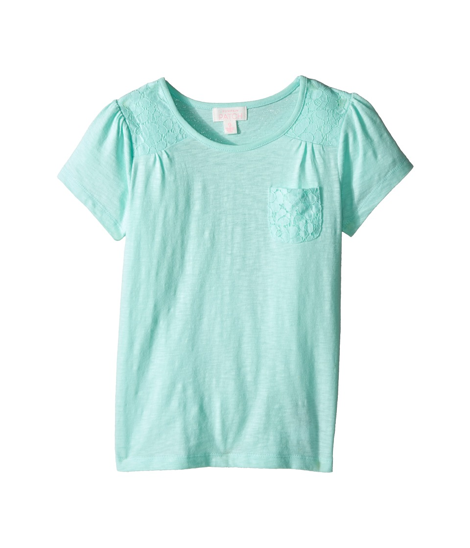 Pumpkin Patch Kids - Sophie Top (Toddler/Little Kids/Big Kids) (Misty Jade) Girl's Short Sleeve Pullover