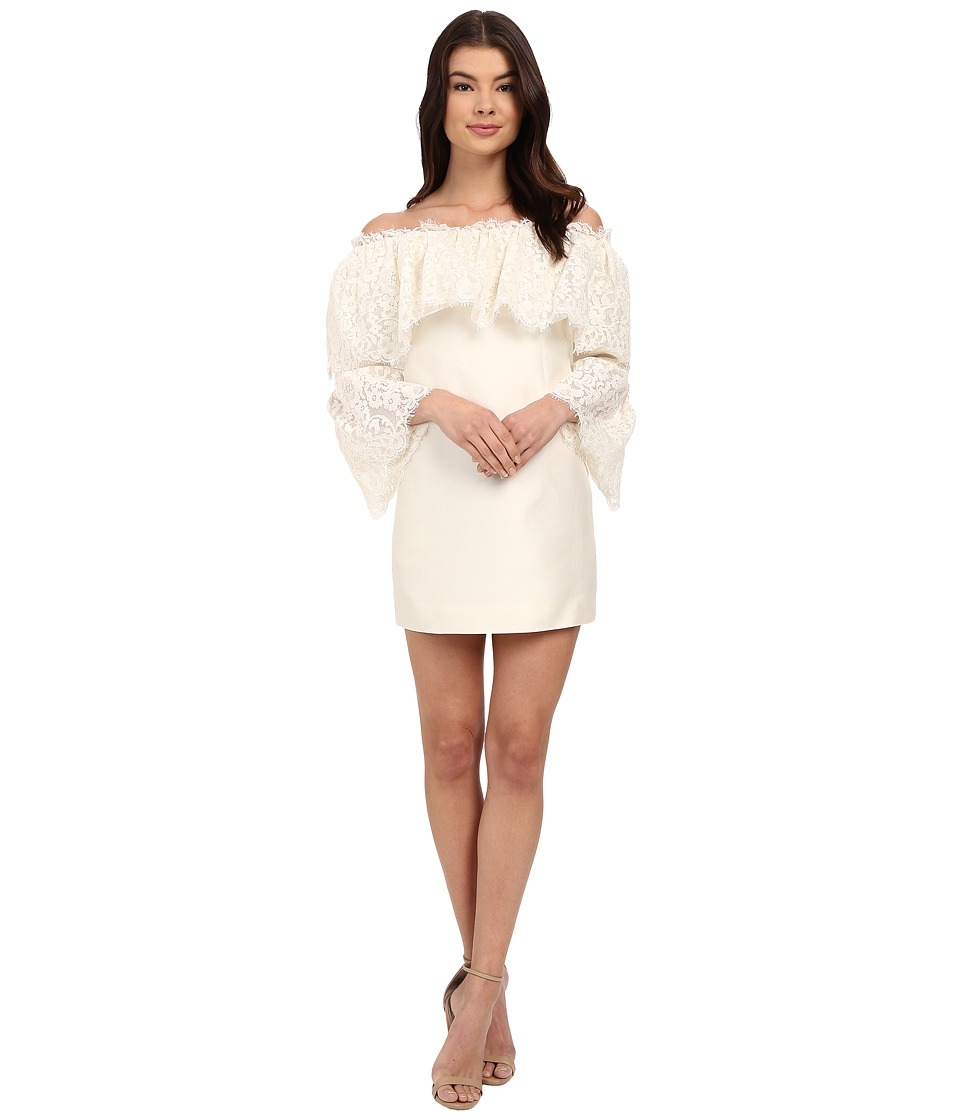 Rachel Zoe - Sailor Off the Shoulder Lace Dress (Ecru) Women's Dress
