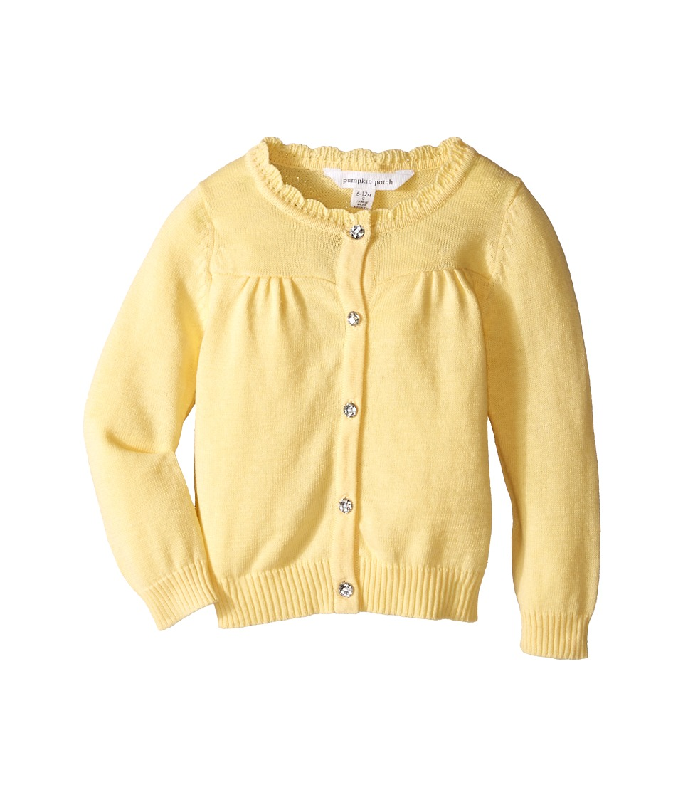 Pumpkin Patch Kids - Carly Rose Cardigan (Infant/Toddler/Little Kids) (Popcorn) Girl's Sweater