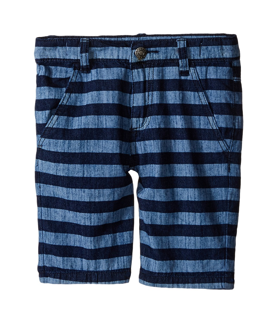 Pumpkin Patch Kids - Bleach Out Printed Shorts (Infant/Toddler/Little Kids) (Victory Blue) Boy's Shorts
