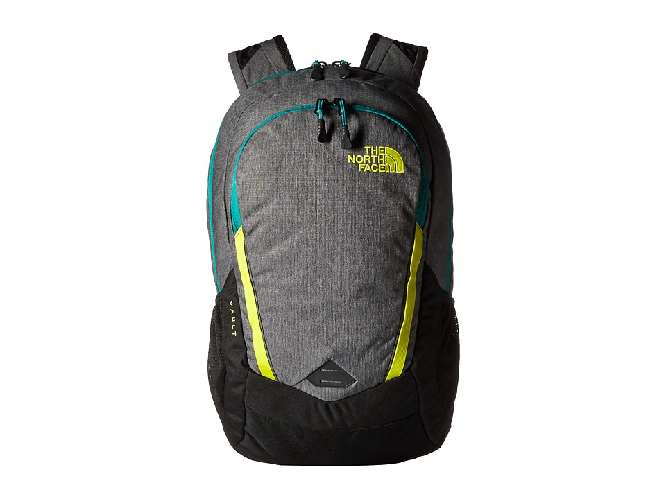 The North Face - Vault (Zinc Grey Heather/Sulphur Spring Green) Backpack Bags