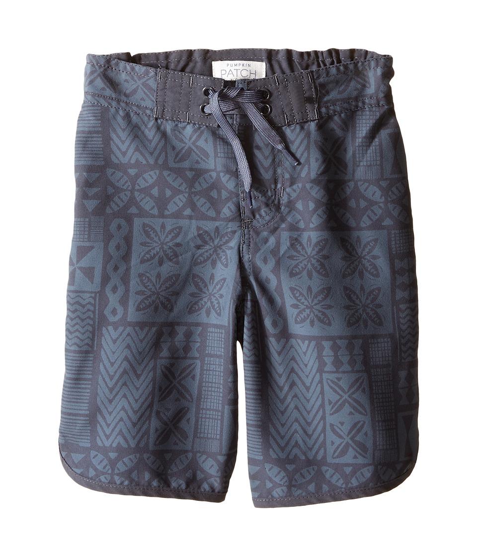 Pumpkin Patch Kids - Knee Stripe Boardshorts (Infant/Toddler/Little Kids) (Grey Cloud) Boy's Swimwear