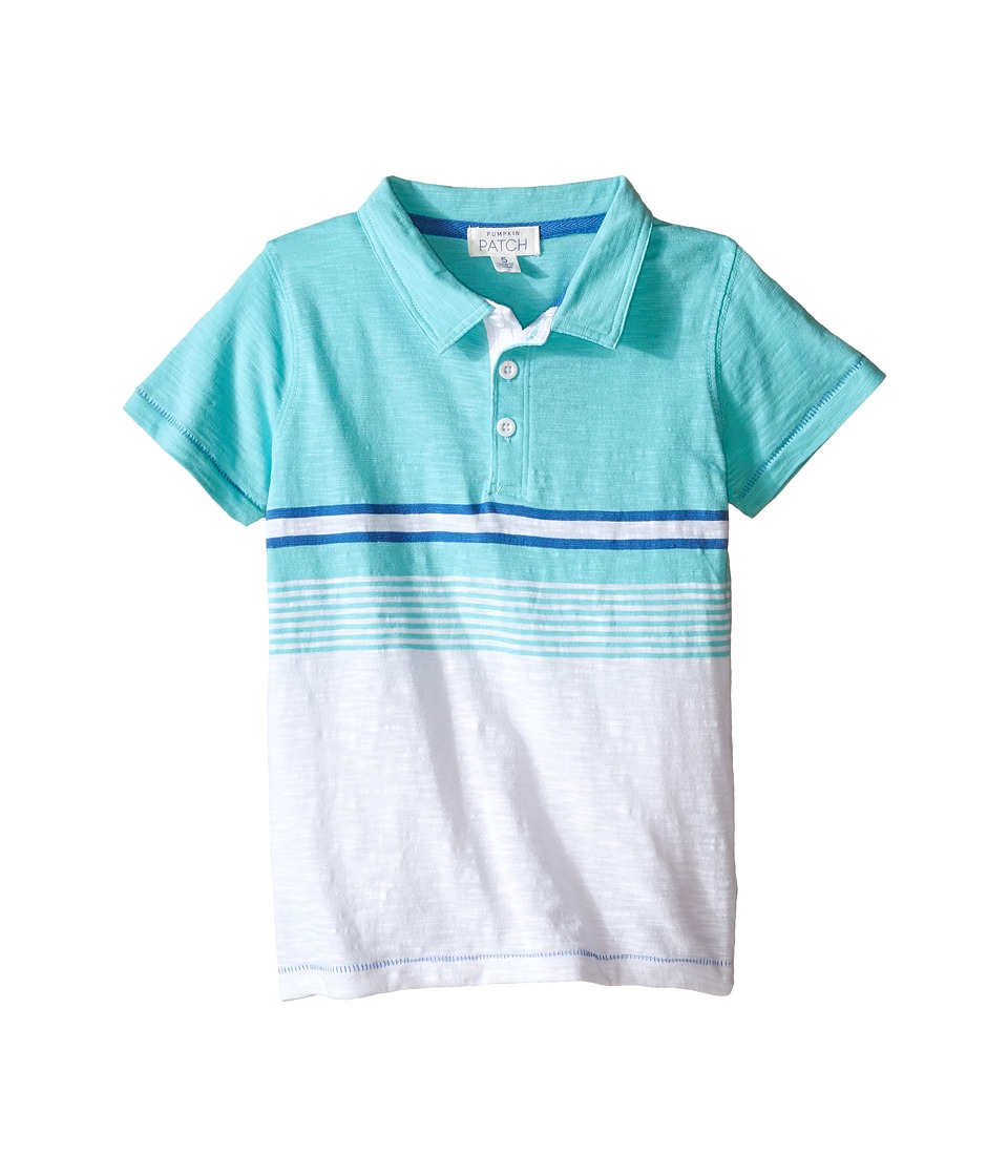 Pumpkin Patch Kids - Stripe Polo (Infant/Toddler/Little Kids) (Blaze Orange) Boy's Short Sleeve Knit