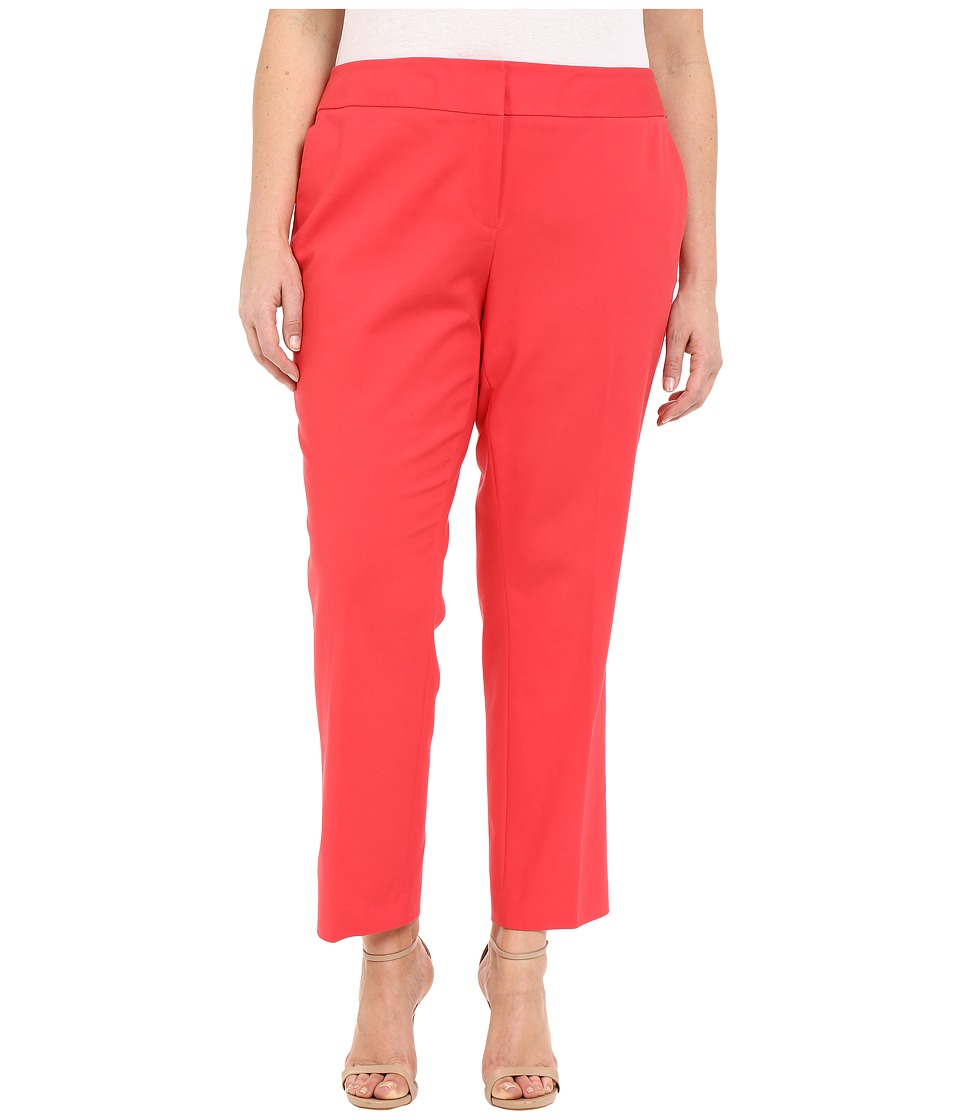 Vince Camuto Specialty Size - Plus Size Front Zip Ankle Pants (Guava Fruit) Women's Casual Pants