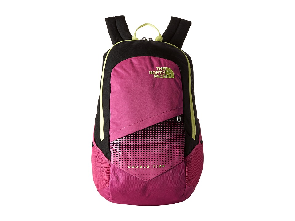 The North Face - Double Time Backpack (Rose Violet Pink/Hamachi Yellow) Backpack Bags