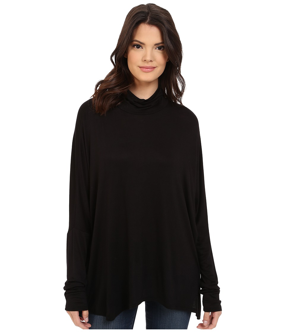 Project Social T - Ann Mock Neck (Black) Women's Clothing