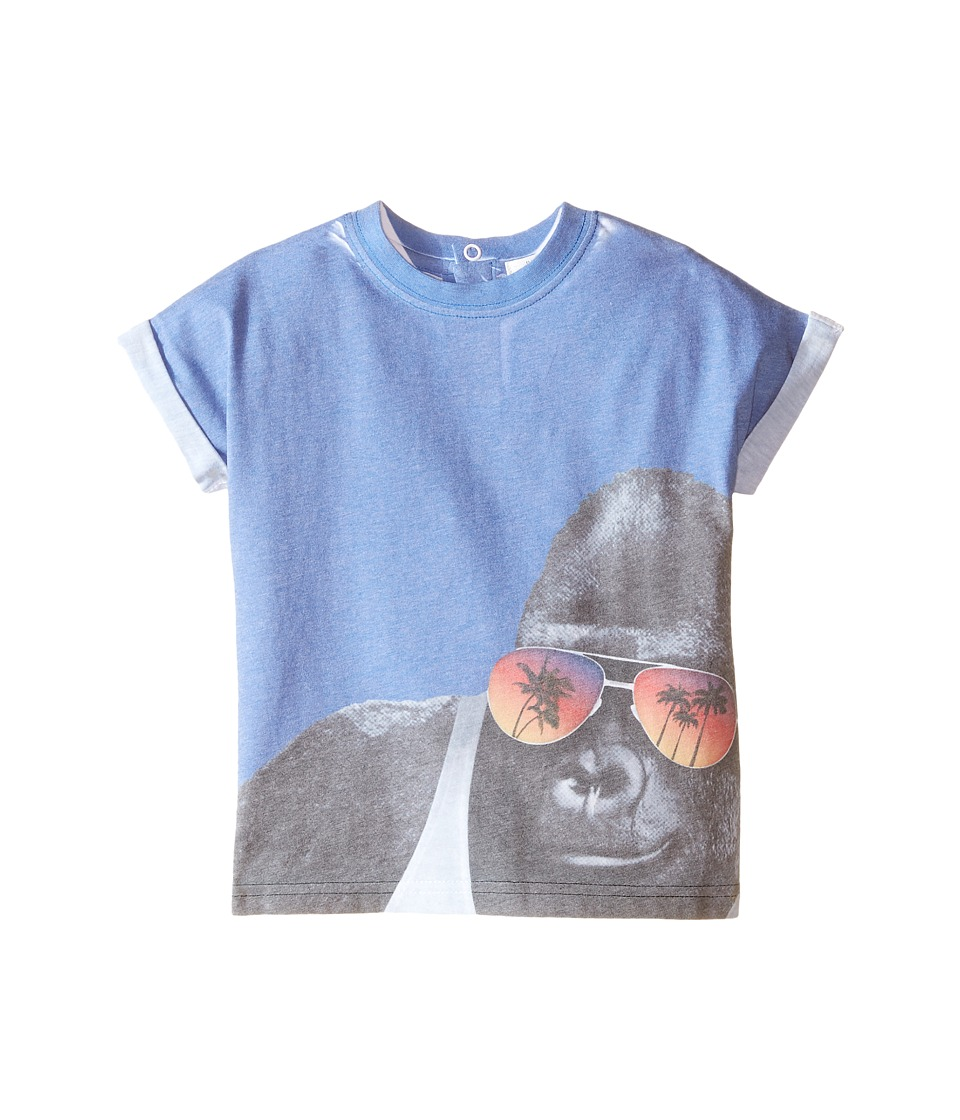 Pumpkin Patch Kids - Gorilla Print Tee (Infant/Toddler/Little Kids) (Anchor Blue) Boy's T Shirt