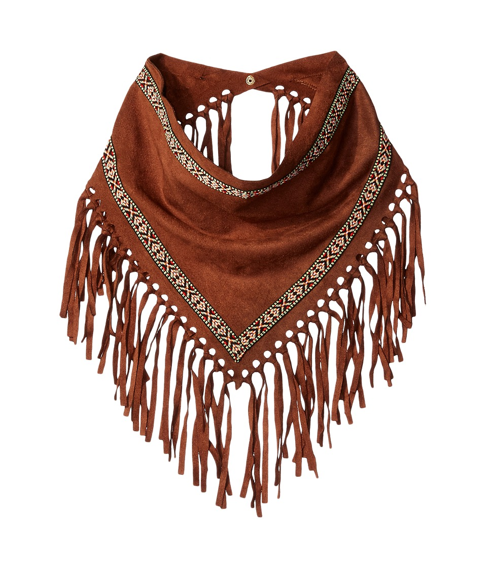 Steve Madden - Faux Suede w/ Trim Triangle Neckerchief (Brown) Scarves