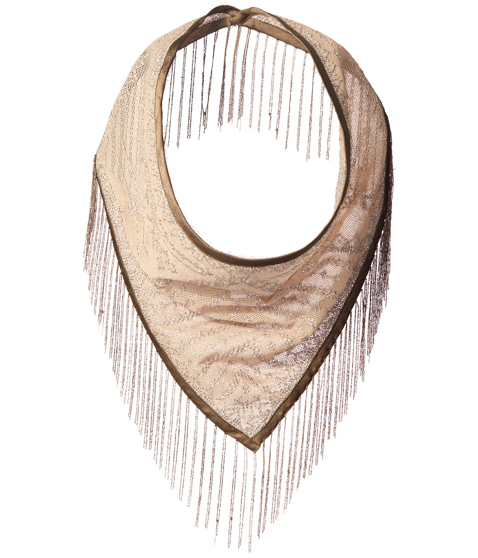 Steve Madden - Metal Fringe Triangle Neckerchief (Silver) Scarves