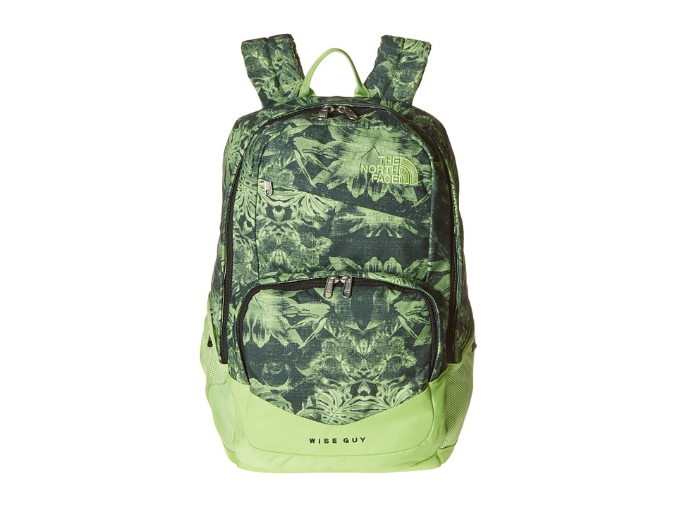 The North Face - Wise Guy Backpack (Dark Cedar Green Palm Print) Backpack Bags