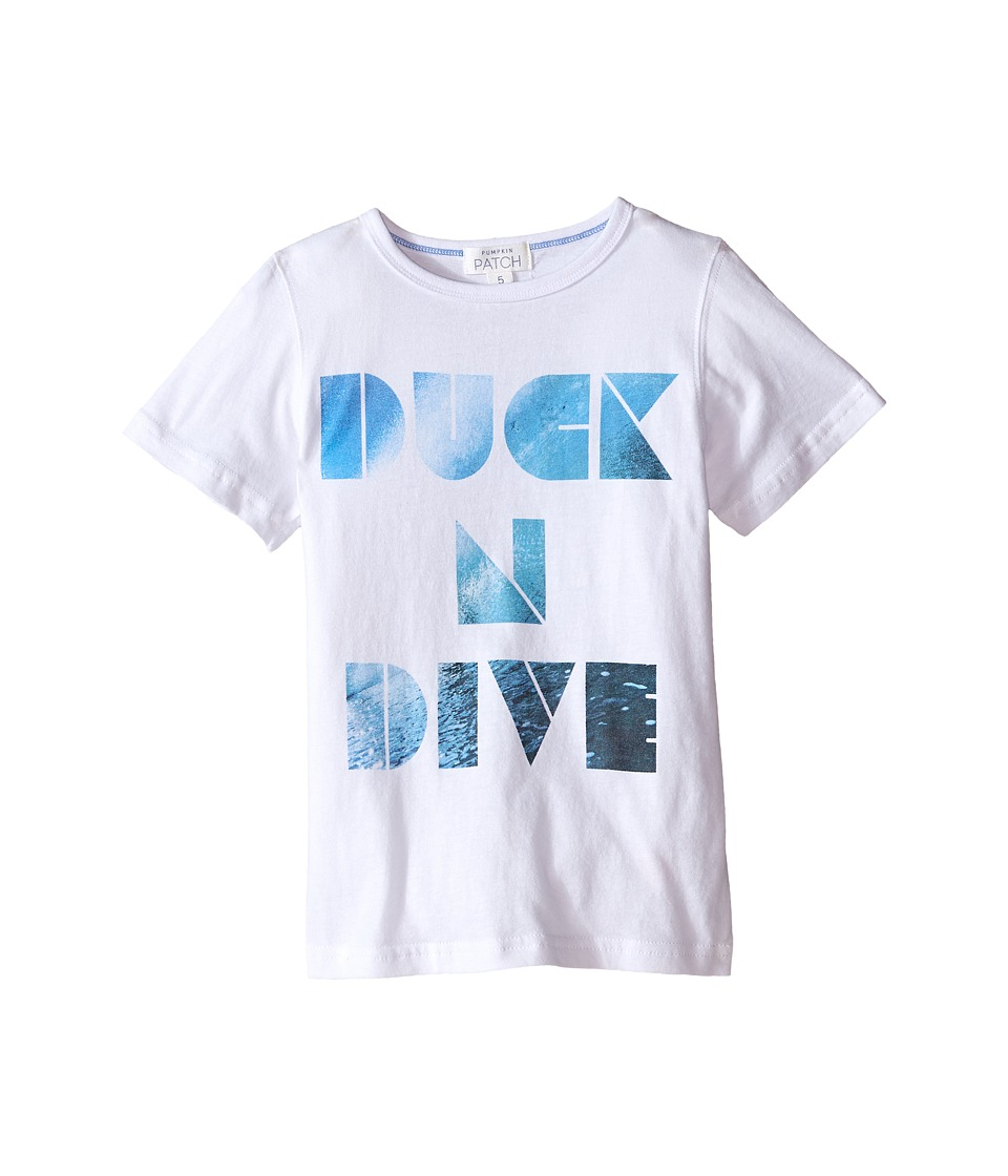 Pumpkin Patch Kids - Duck N Dive Tee (Infant/Toddler/Little Kids) (Super White) Boy