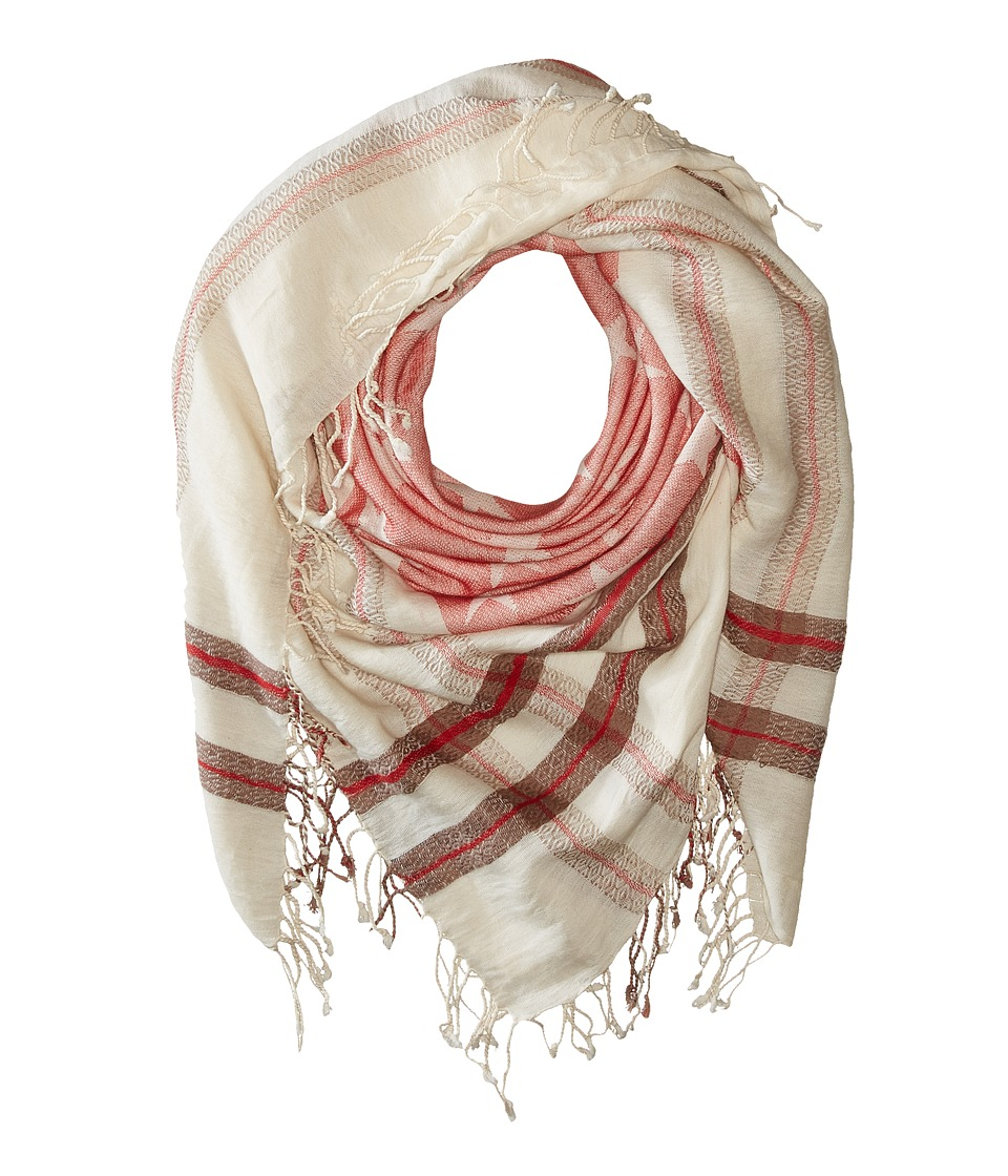 Steve Madden - Stars and Bars Jacquard Square Day Wrap (Red) Scarves