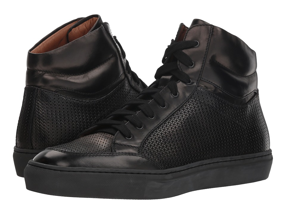 Aquatalia Asher (Black Woven Full Grain) Men