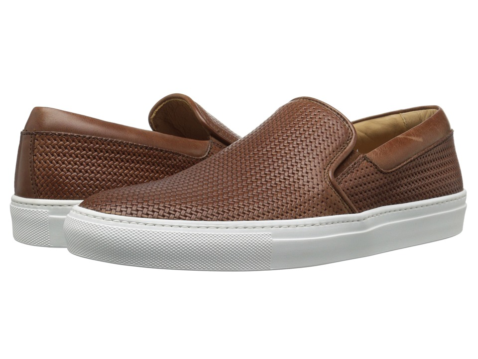 Aquatalia - Anderson (Nut Woven Full Grain) Men's Slip on Shoes