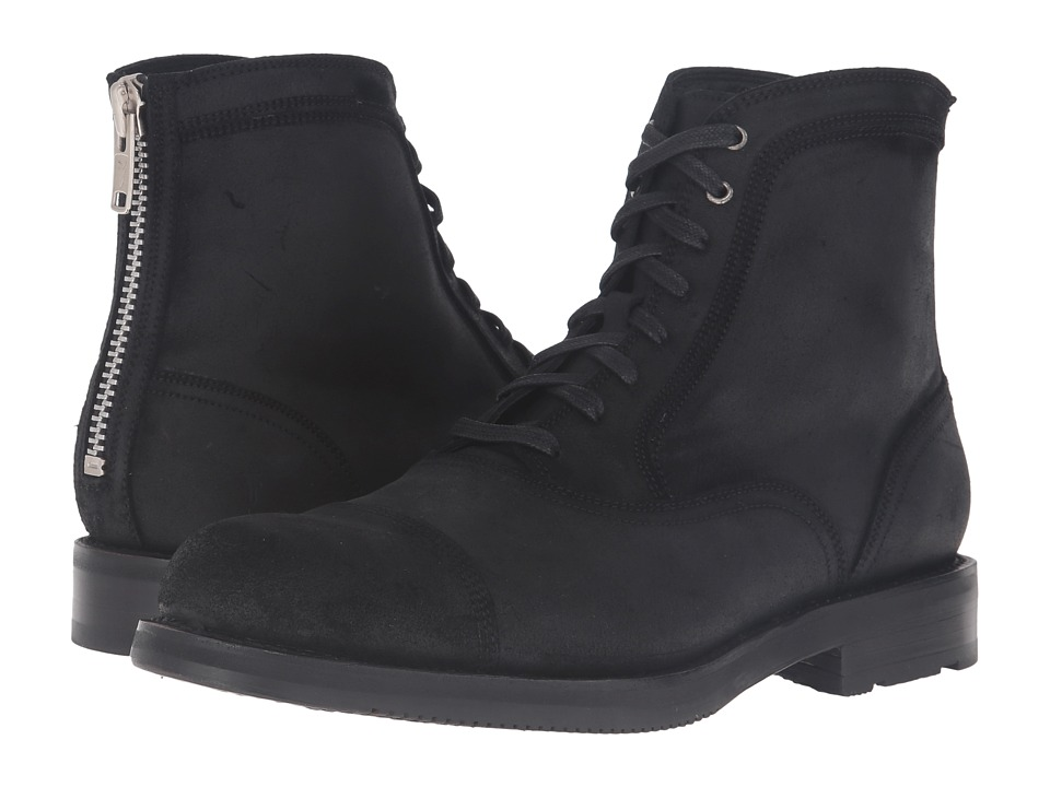 Frye - Brayden Bal Lace-Up (Black Waxed Vintage Leather) Men's Boots