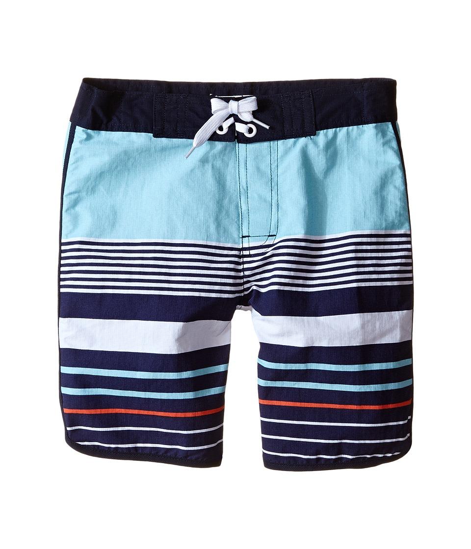 Pumpkin Patch Kids - Multi Stripe Boardshorts (Infant/Toddler/Little Kids) (Blaze Orange) Boy's Swimwear