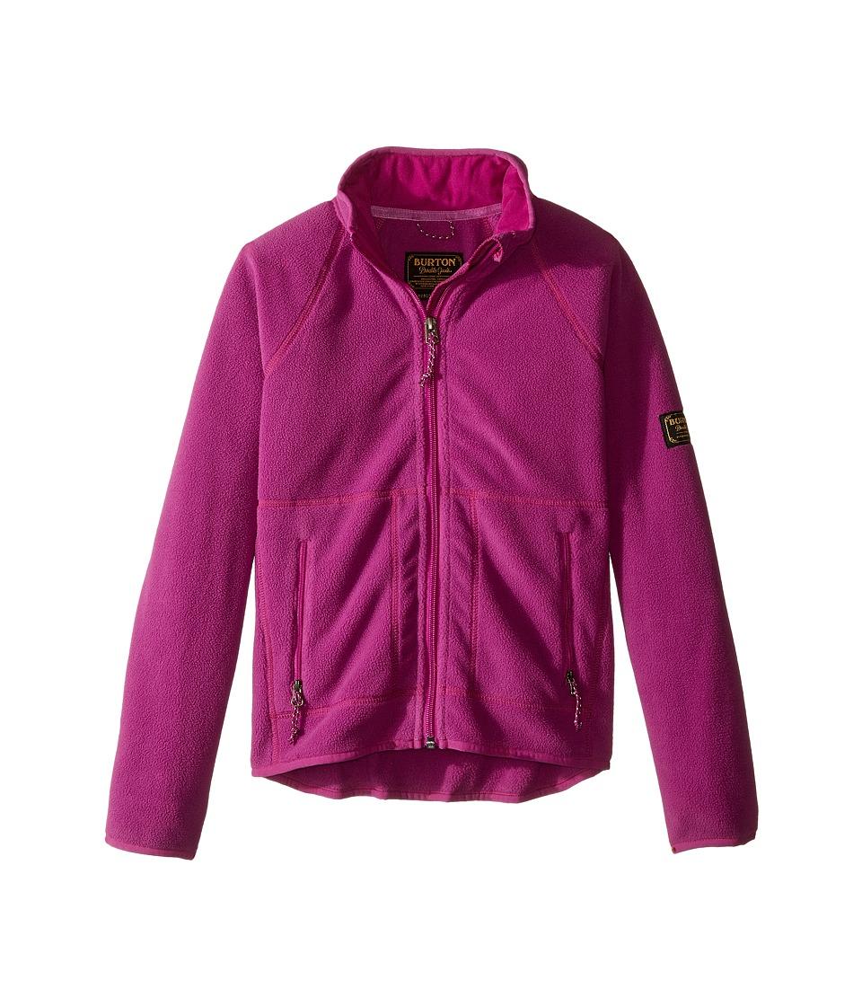 Burton Kids - Spark Full Zip Fleece (Little Kids/Big Kids) (Grapeseed) Girl's Sweatshirt