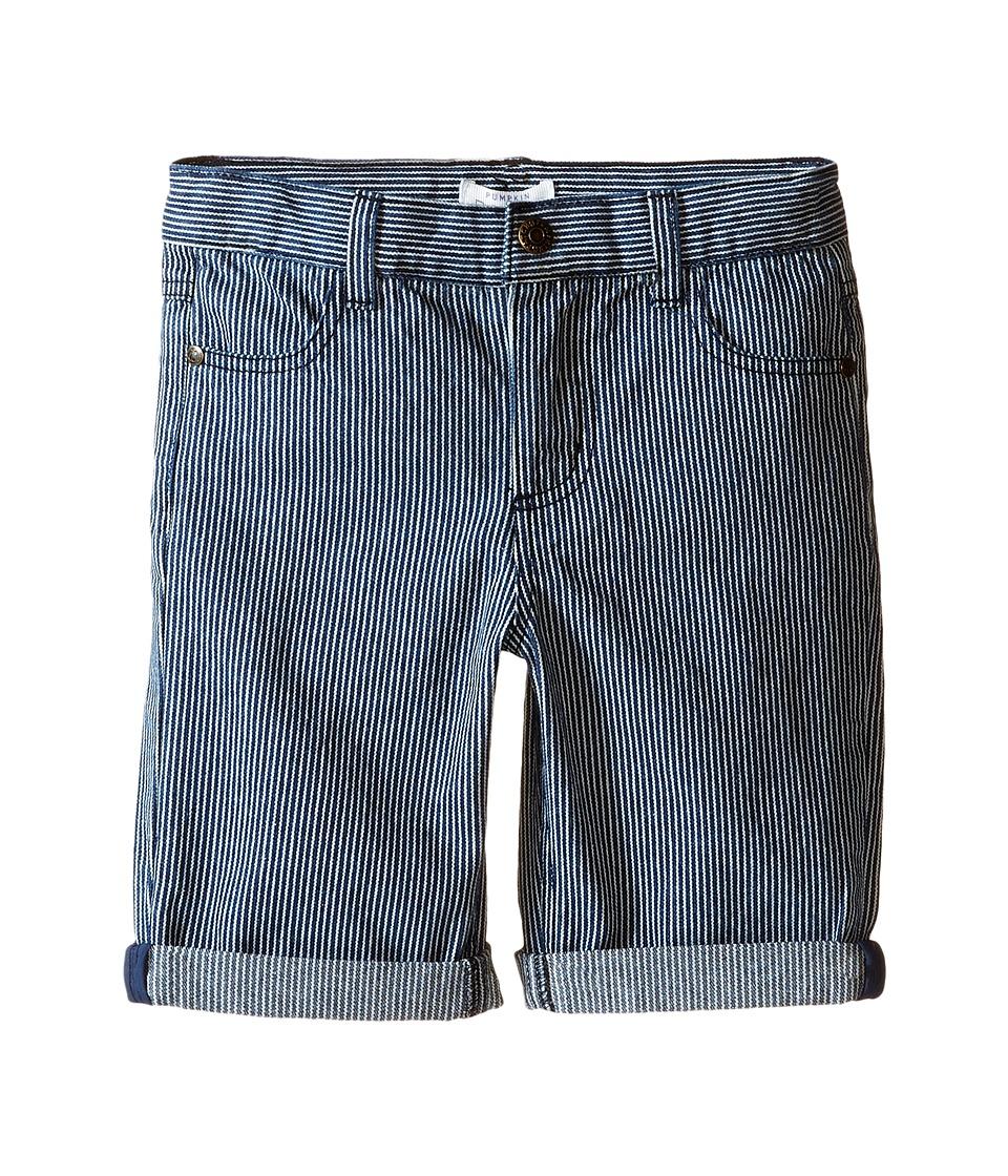 Pumpkin Patch Kids - Stripe Denim Shorts (Infant/Toddler/Little Kids) (Denim) Boy's Shorts