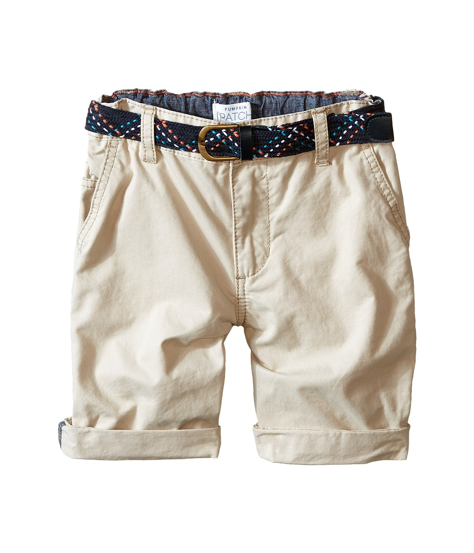 Pumpkin Patch Kids - Turn Up Shorts with Belt (Infant/Toddler/Little Kids) (Sand Storm) Boy's Shorts