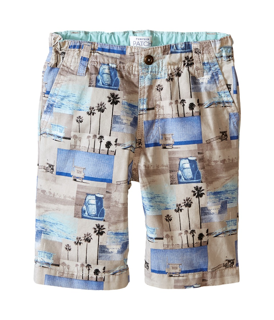 Pumpkin Patch Kids - Photographic Printed Shorts (Infant/Toddler/Little Kids) (Misty Sky) Boy's Shorts