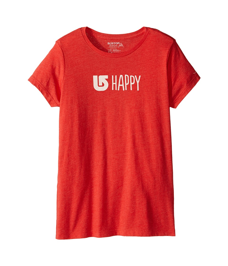 Burton Kids Happy Short Sleeve Crew (Big Kids) (Coral Heather) Girl