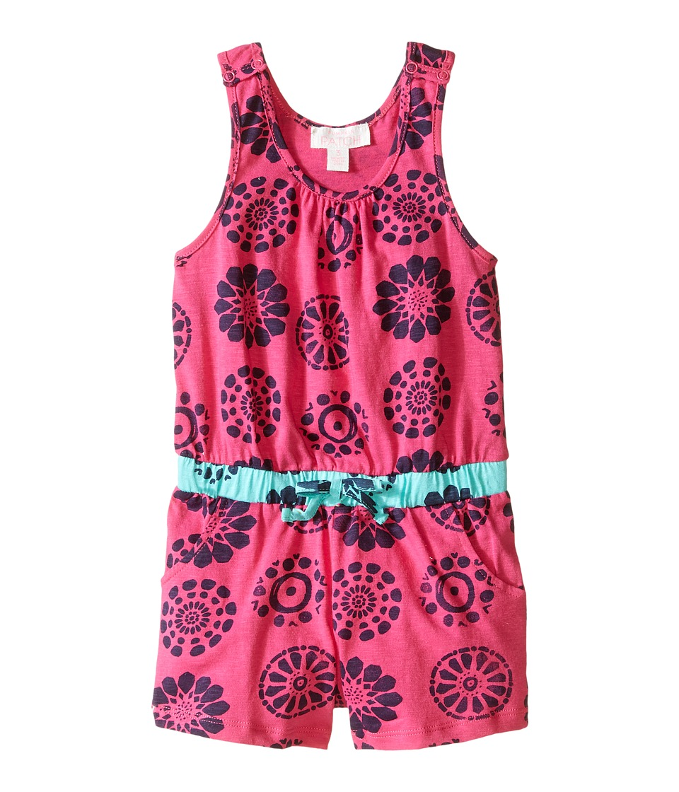 Pumpkin Patch Kids - Printed Playsuit (Toddler/Little Kids) (Raspberry) Girl's Jumpsuit & Rompers One Piece