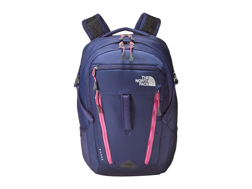 The North Face - Women's Surge (Patriot Blue/Rose Violet Pink) Backpack Bags