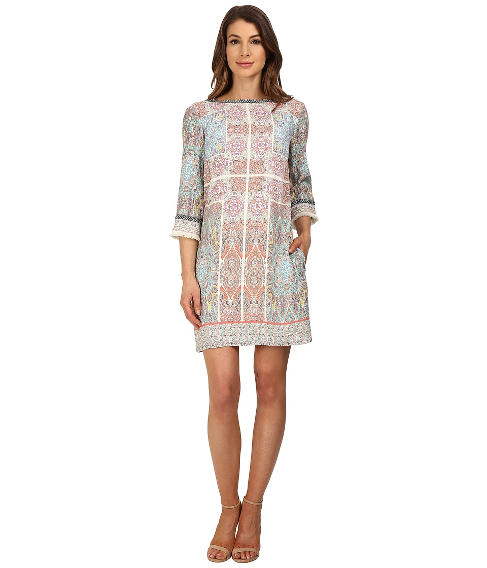KUT from the Kloth - Valarie (Ivory/Coral) Women's Dress