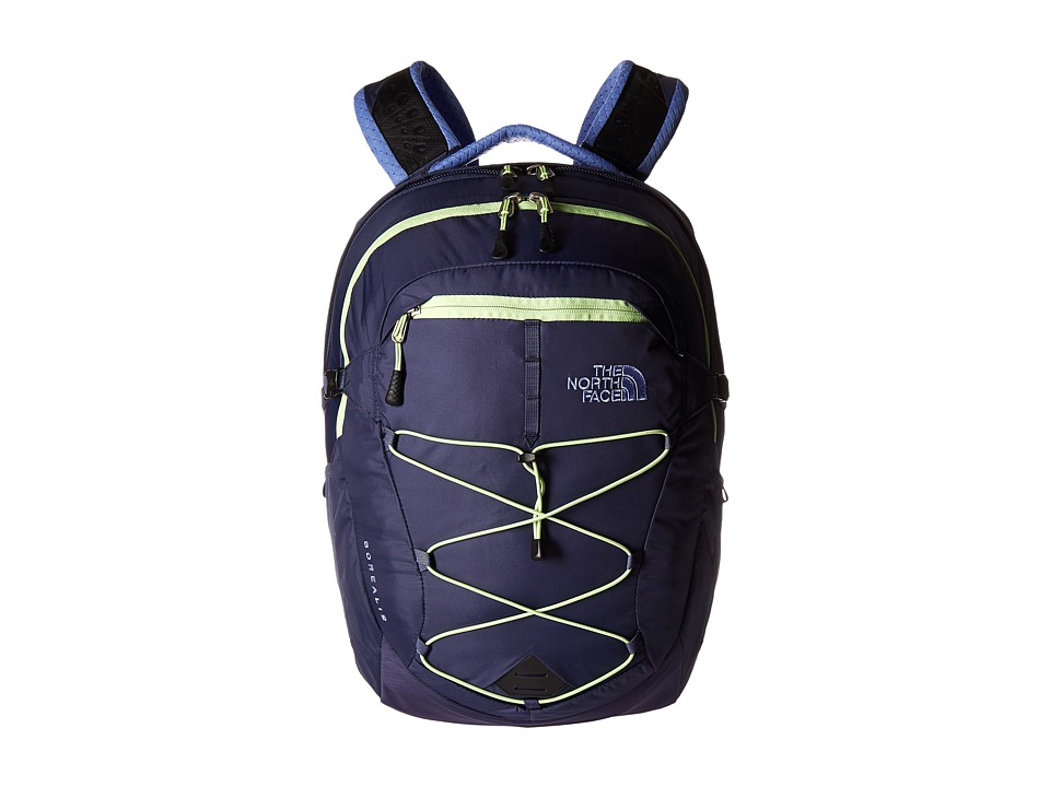 The North Face - Women's Borealis (Crown Blue/Budding Green) Backpack Bags