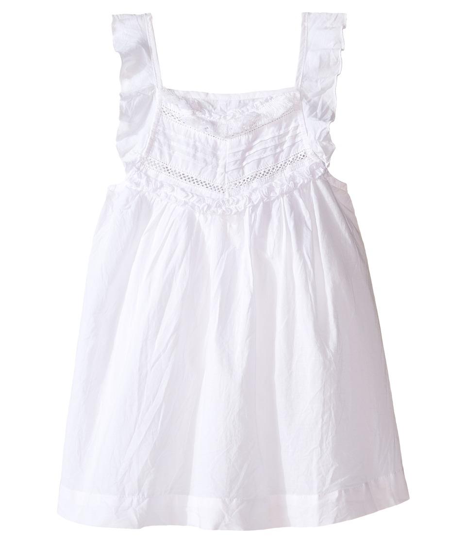 Pumpkin Patch Kids - Detailed Woven Top (Infant/Toddler/Little Kids) (Super White) Girl's Blouse