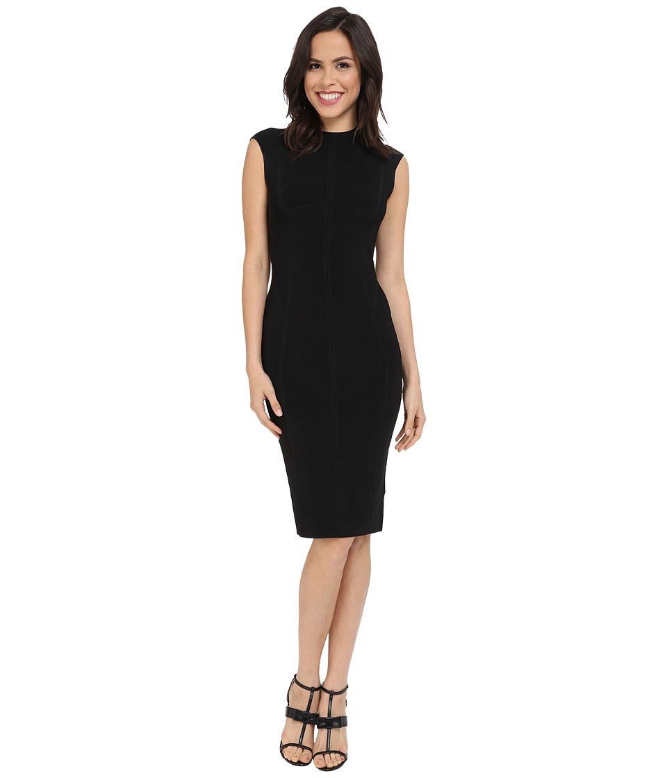 Ted Baker - Sahskia Bodycon Jaquard Knitted Dress (Black) Women's Dress