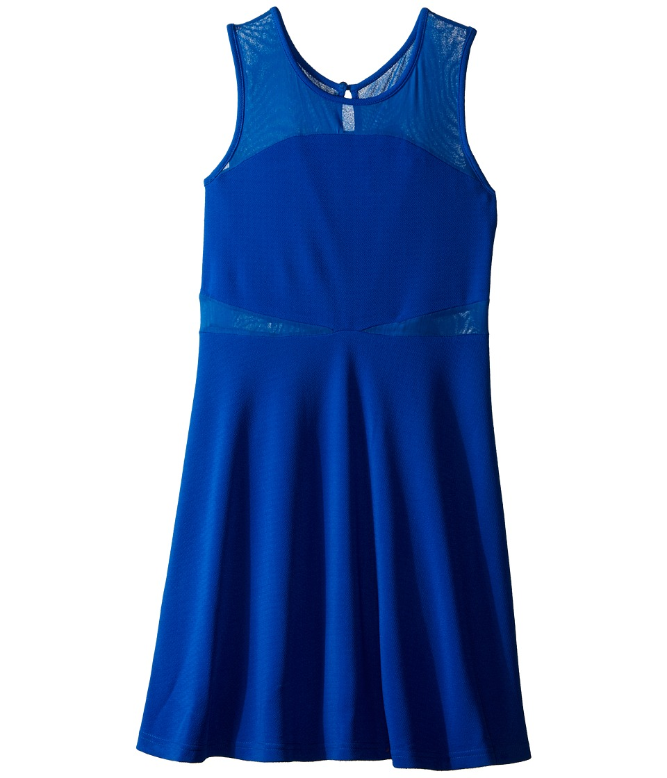 Us Angels - Pique Sleeveless Illusion Dress (Big Kids) (Blue) Girl's Dress