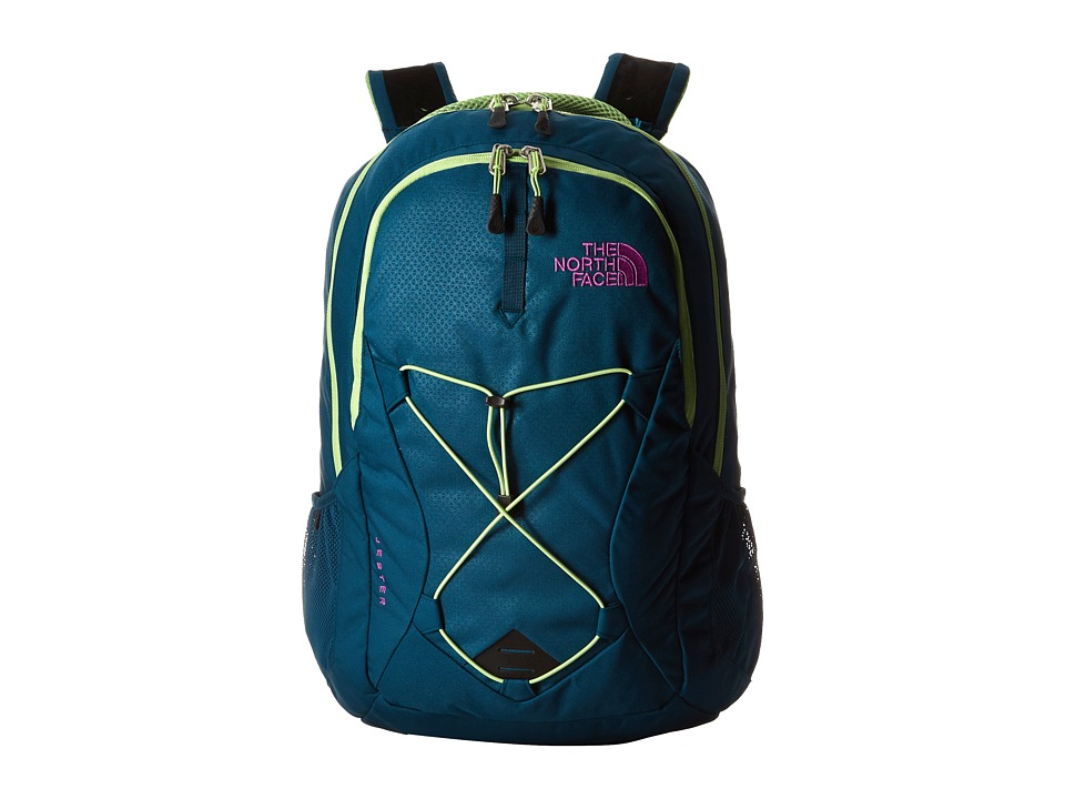 The North Face - Women's Jester (Blue Coral/Budding Green) Backpack Bags