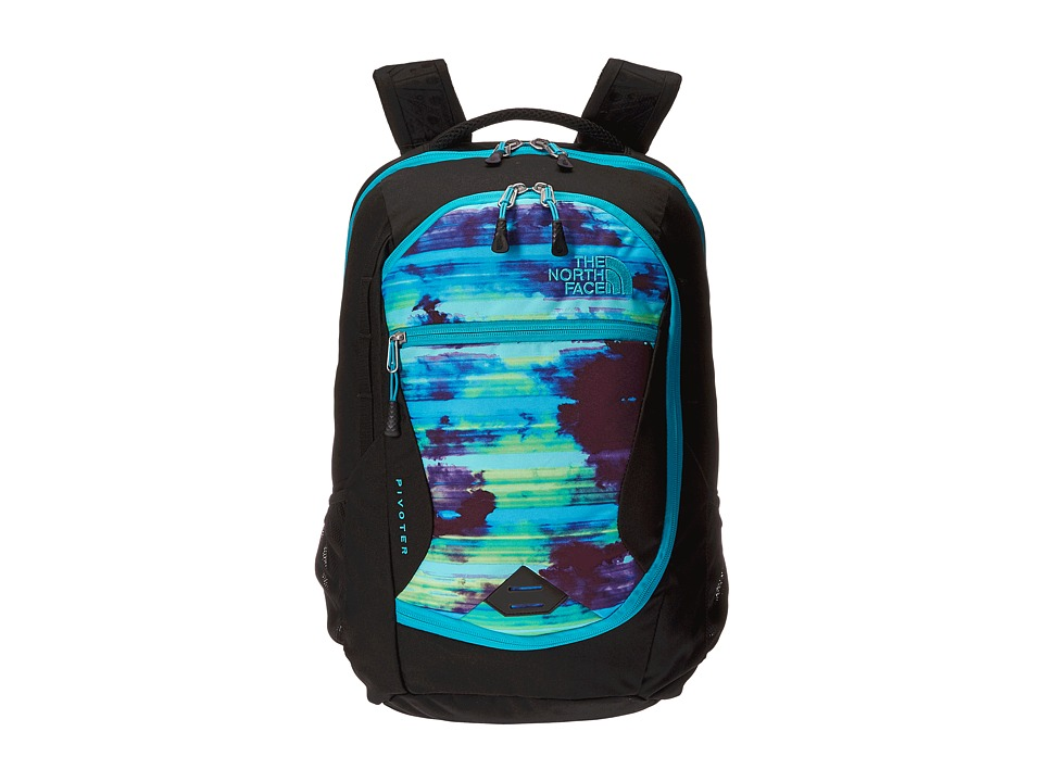 The North Face - Pivoter (Bluebird Cloud Burst Print) Backpack Bags