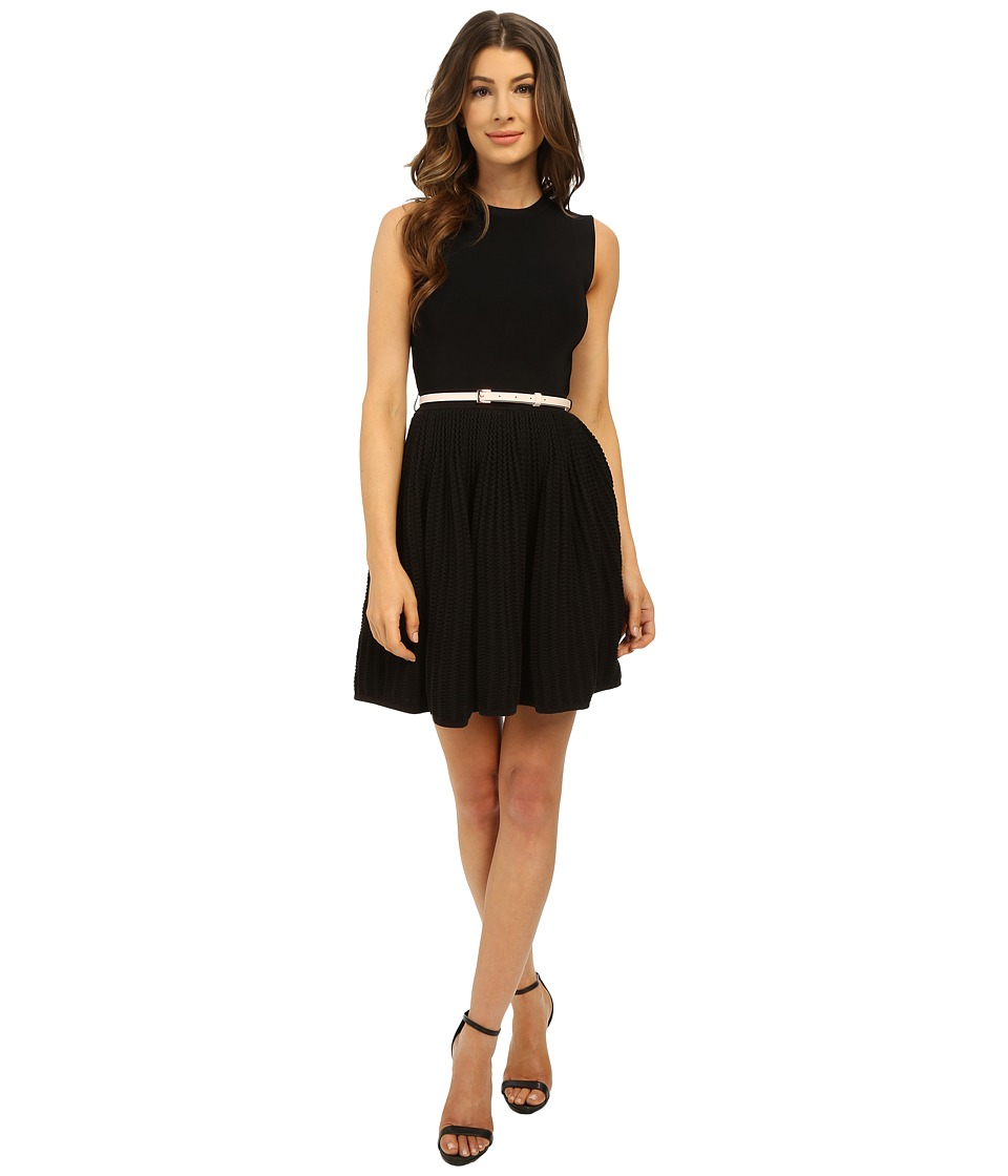 Ted Baker - Alicii Bow Belt Knit Dress (Black) Women's Dress