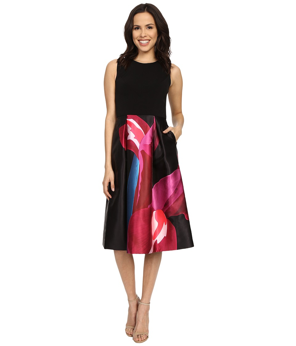 Ted Baker - Kathlee Stencilled Stems Print Dress (Deep Pink) Women's Dress