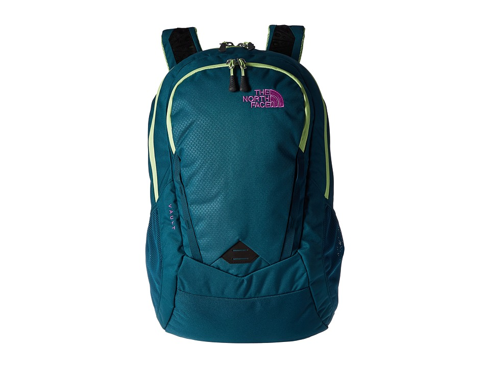 The North Face - Women's Vault (Blue Coral/Budding Green) Backpack Bags