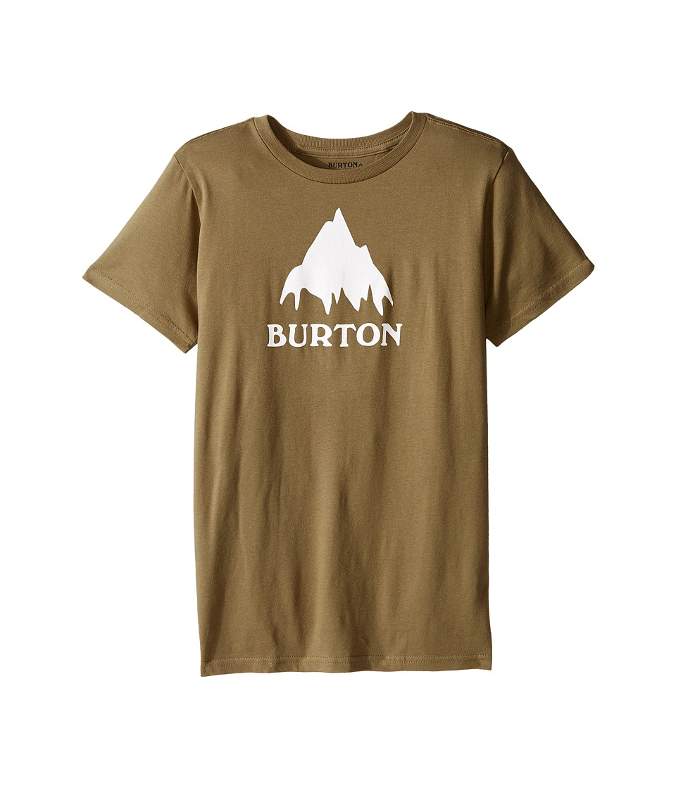 Burton Kids - Classic Mountain S/S Tee (Big Kids) (Olive Branch) Boy's T Shirt