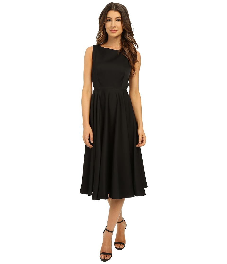 Ted Baker - Lyxa Cut Out Full Skirt Midi Dress (Black) Women's Dress