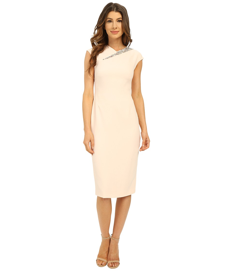 Ted Baker - Floral Embellished Bodycon Dress (Baby Pink) Women's Dress